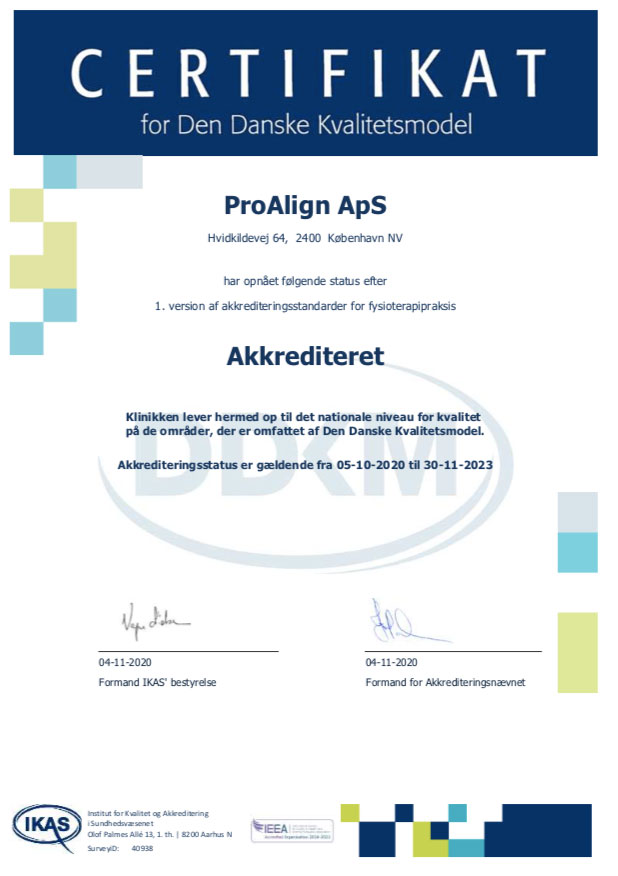 ProAlign-Akkrediteringsbevis